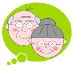 吹き出し 【空き家管理舎】 おじいさん おばあさん
